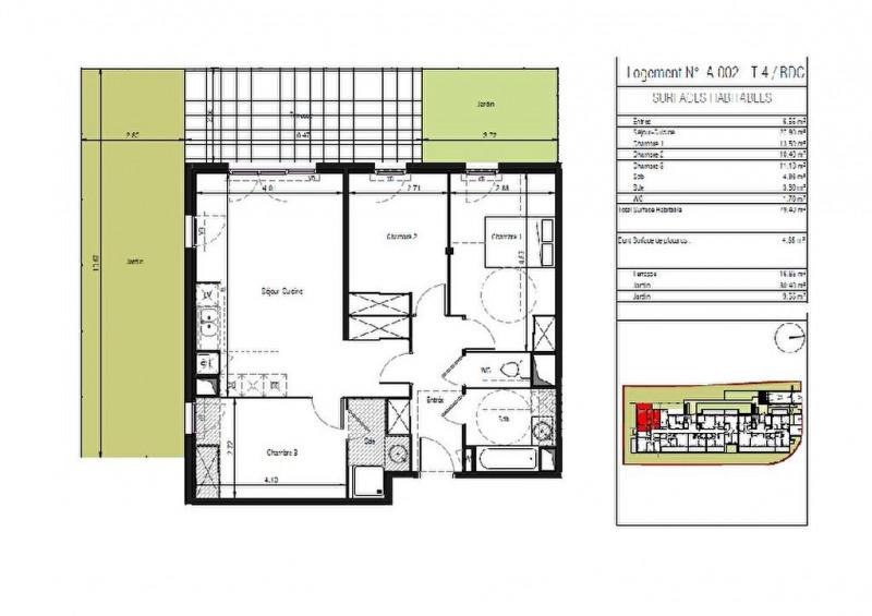Vente appartement Lattes 405000€ - Photo 3