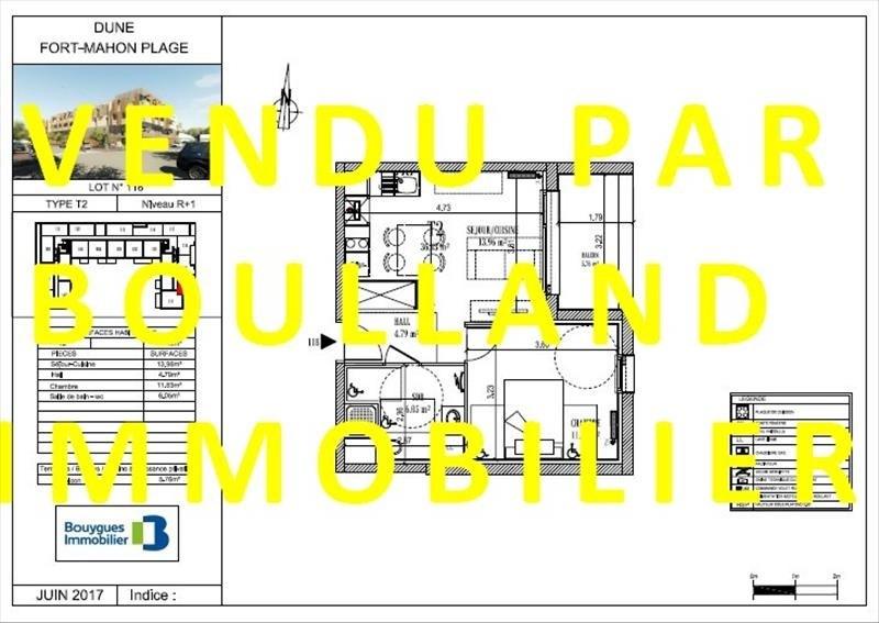 Vente appartement Fort mahon plage 178000€ - Photo 1