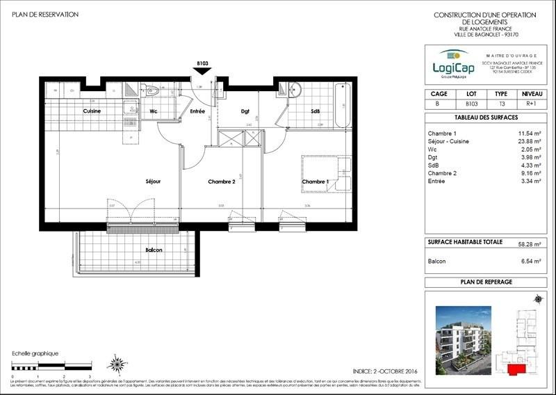 Produit d'investissement appartement Bagnolet 216000€ - Photo 3