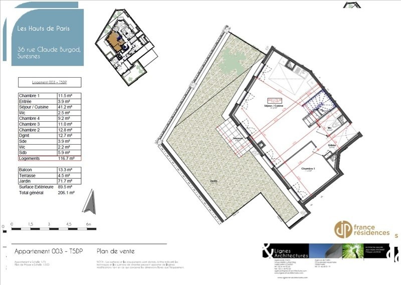 Sale apartment Suresnes 972700€ - Picture 9