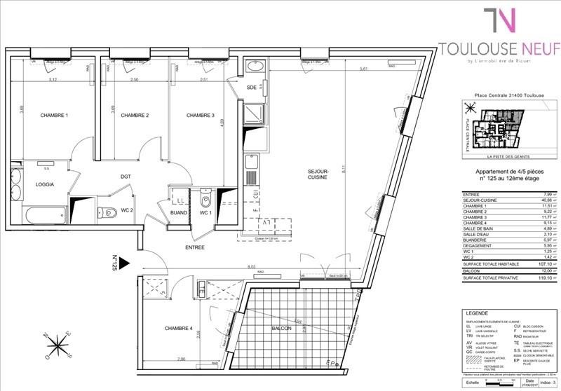 Vente appartement Toulouse 274000€ - Photo 6
