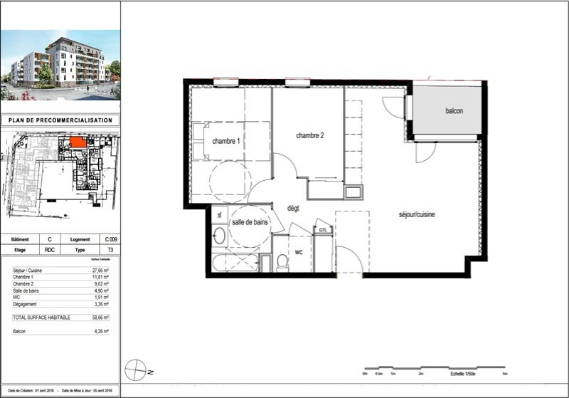 Vente appartement Bourgoin jallieu 161500€ - Photo 2