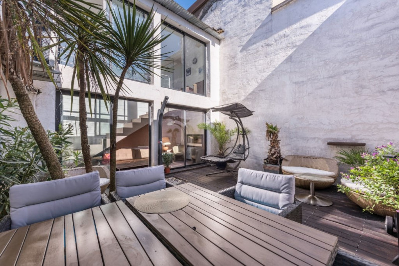 Loft with patio in a former school