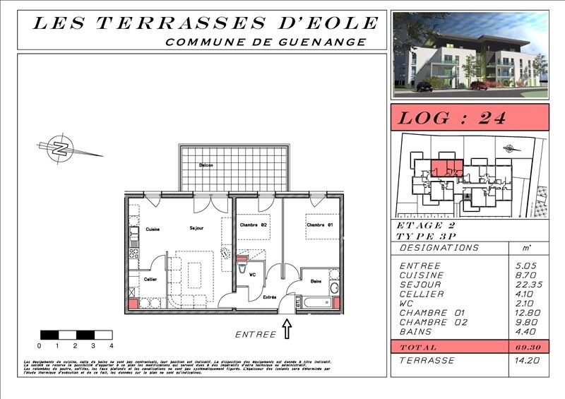 Revenda apartamento Guenange 173266€ - Fotografia 4