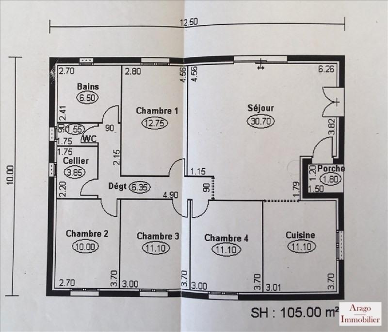 Vente maison / villa Pia 231800€ - Photo 10