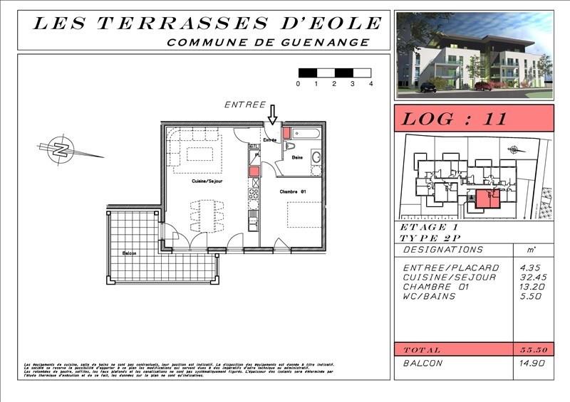 Vente appartement Guenange 138762€ - Photo 4
