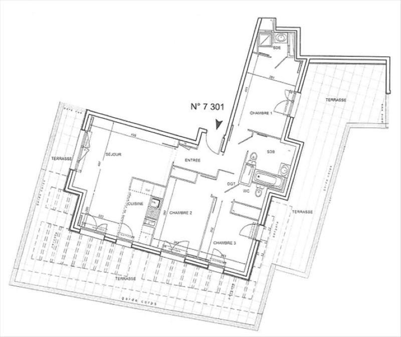 Vente appartement Bures sur yvette 470000€ - Photo 2