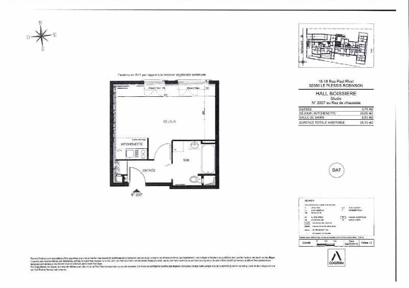 Location appartement Le plessis robinson 750€ CC - Photo 4