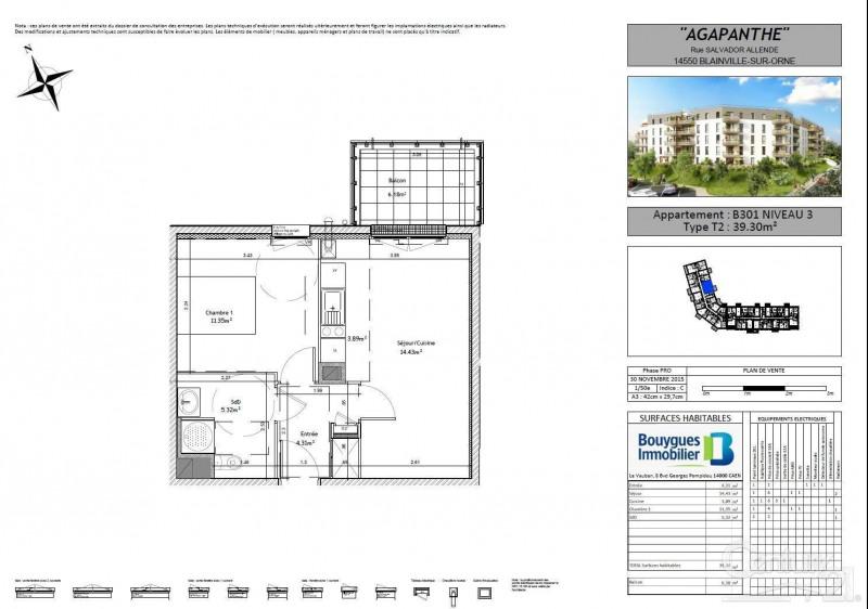Locação apartamento Blainville sur orne 470€ CC - Fotografia 2