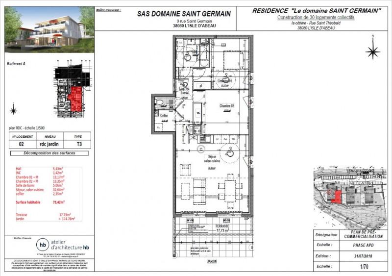 Sale apartment L isle d abeau 220000€ - Picture 3