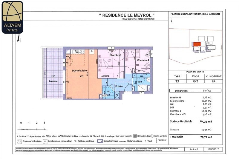 Vente appartement Eyguieres 229000€ - Photo 1