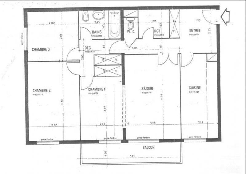 Sale apartment Les ulis 149500€ - Picture 9