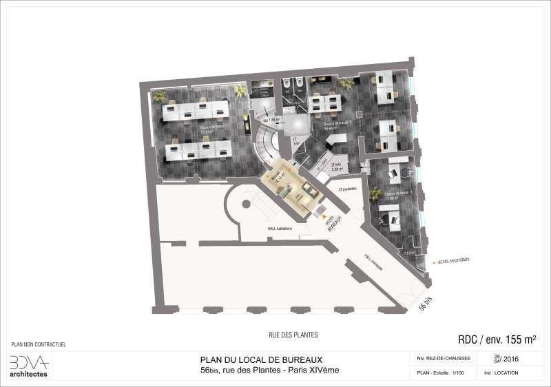 Location Bureau Paris 14ème 0