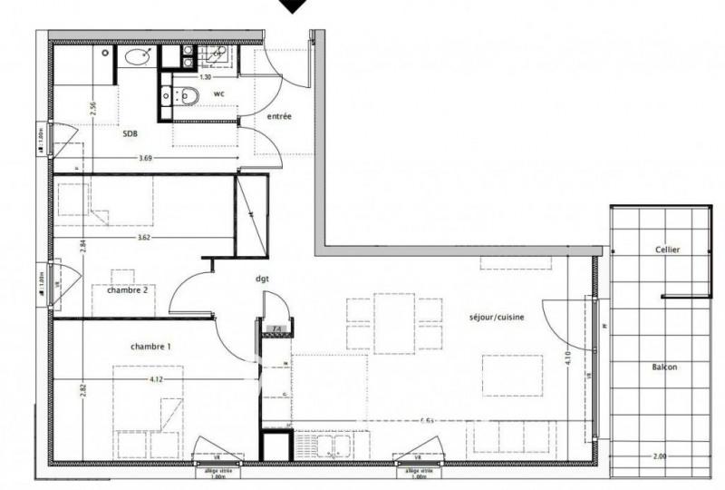 Sale apartment Saint-martin-bellevue 259000€ - Picture 2