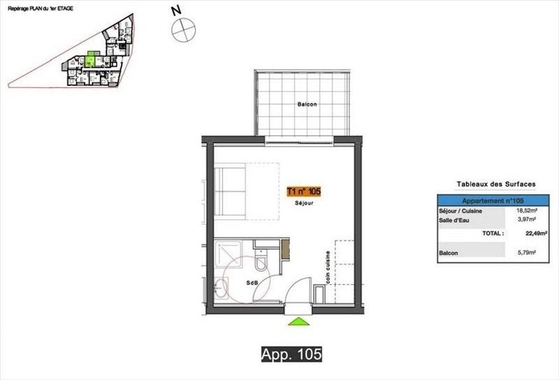 Vente appartement Pertuis 98000€ - Photo 2