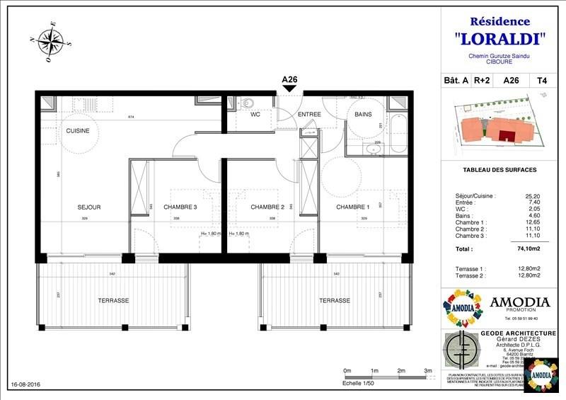Venta  apartamento Ciboure 265000€ - Fotografía 1