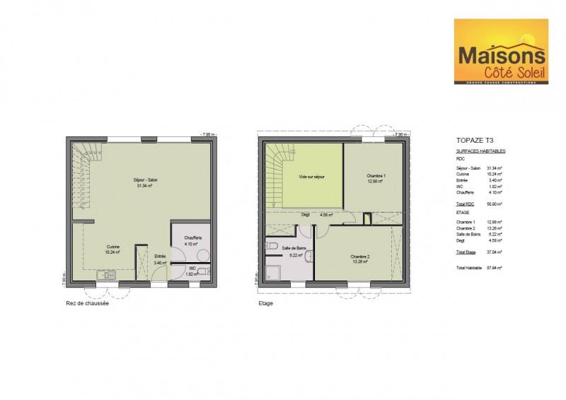 Maison  3 pièces + Terrain 173 m² Sérignan par MAISONS COTE SOLEIL