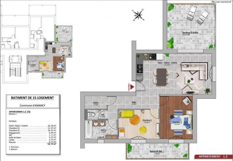 Venta  apartamento Amancy 240000€ - Fotografía 2