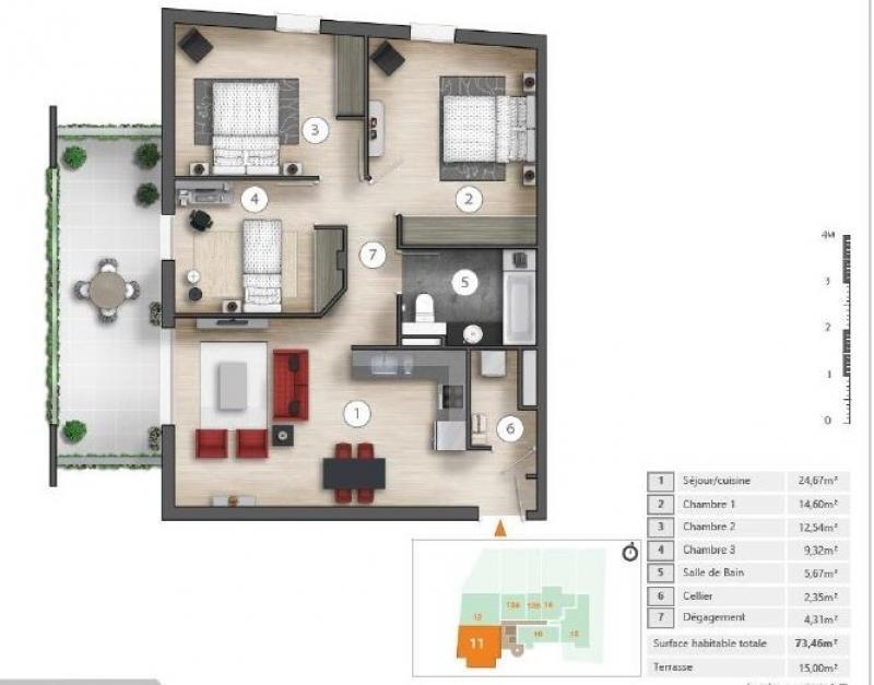 Sale apartment Montpellier 215000€ - Picture 5