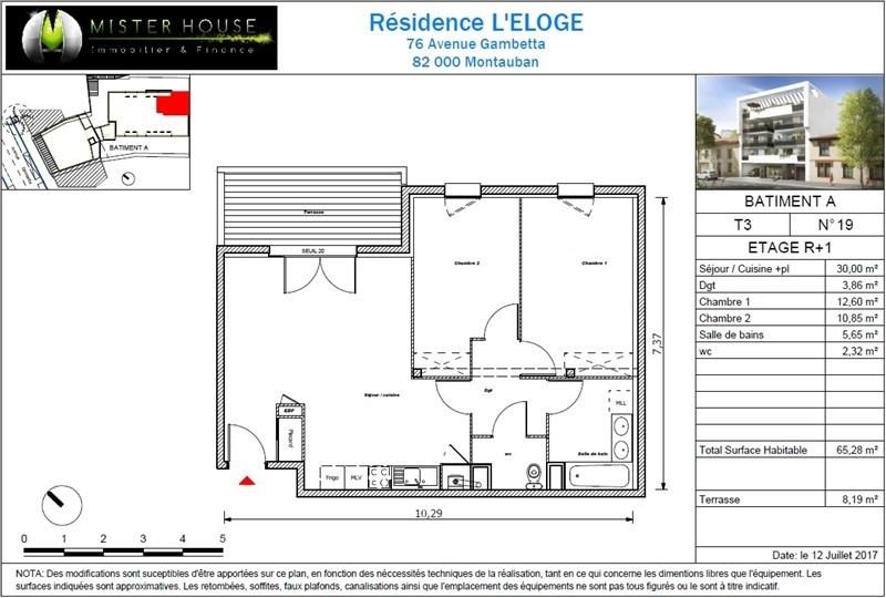 Vendita appartamento Montauban 155500€ - Fotografia 2