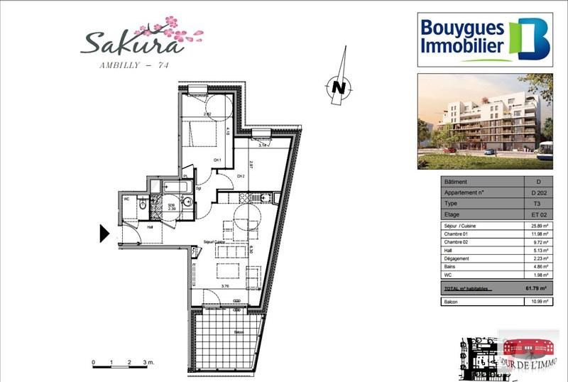 Vente appartement Ambilly 296000€ - Photo 3