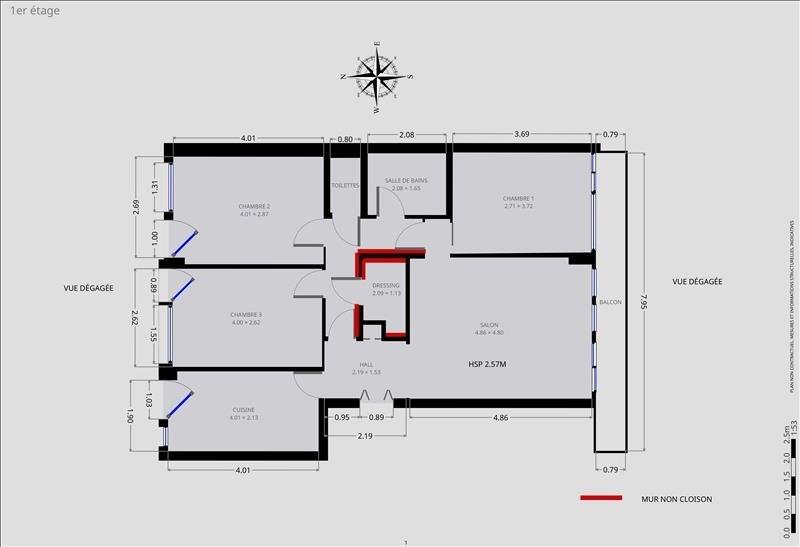 Venta  apartamento Paris 15ème 690000€ - Fotografía 9