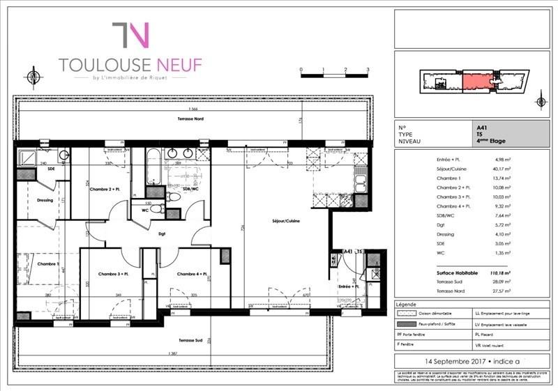 Vente appartement Blagnac 431000€ - Photo 6
