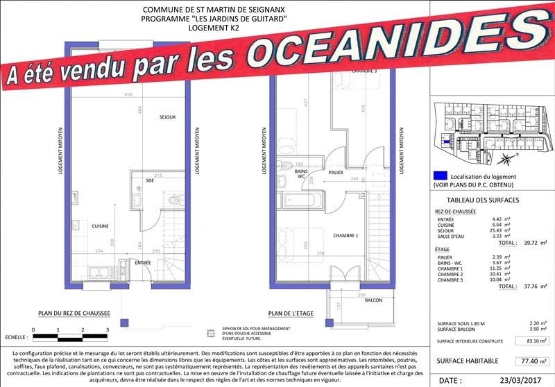Sale house / villa St martin de seignanx 177200€ - Picture 1