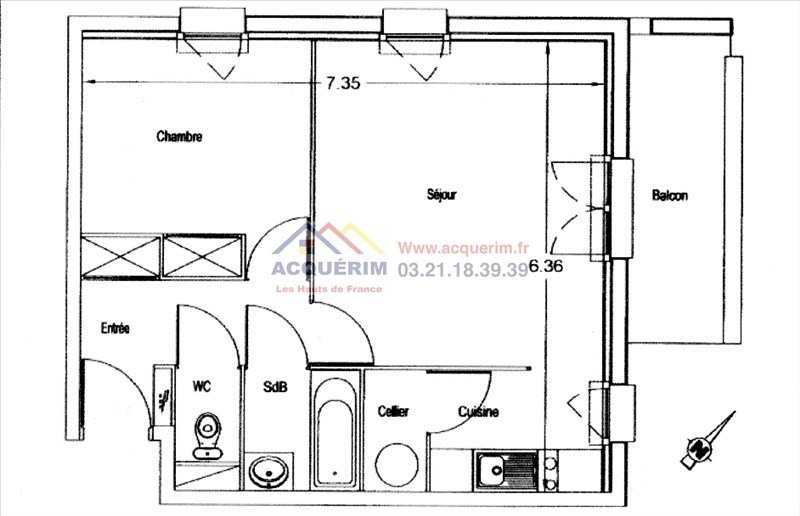 Investment property apartment Harnes 54 490€ - Picture 6