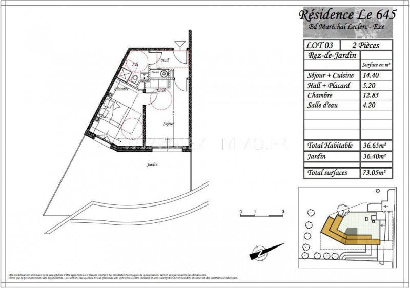 Vendita appartamento Èze 219900€ - Fotografia 3