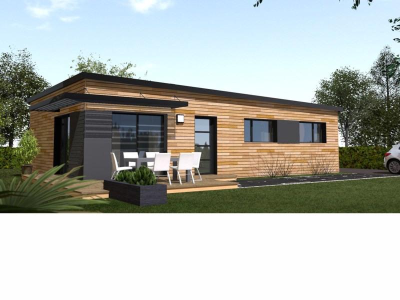 """Modèle de maison  """"80m² plain-pied ossature bois"""" à partir de 5 pièces Seine-et-Marne par PRIMOBOIS MARNE-LA-VALLEE"""