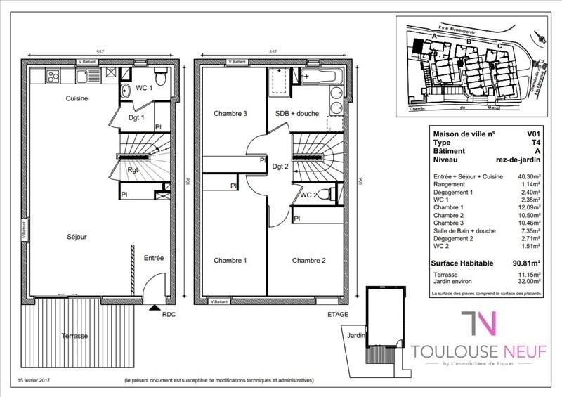 Vente maison / villa Toulouse 323900€ - Photo 3