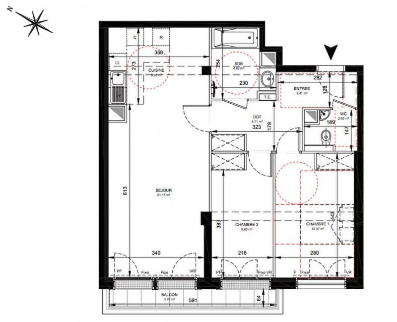 Vente appartement Levallois perret 643000€ - Photo 2