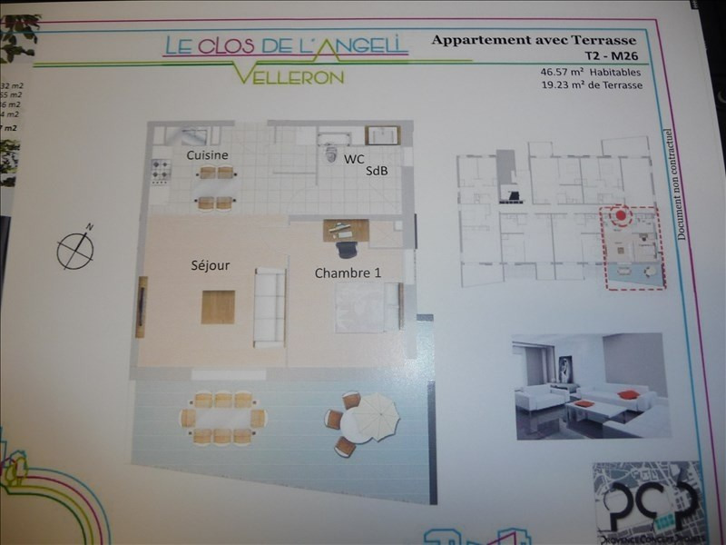 Produit d'investissement appartement Velleron 149 500€ - Photo 2