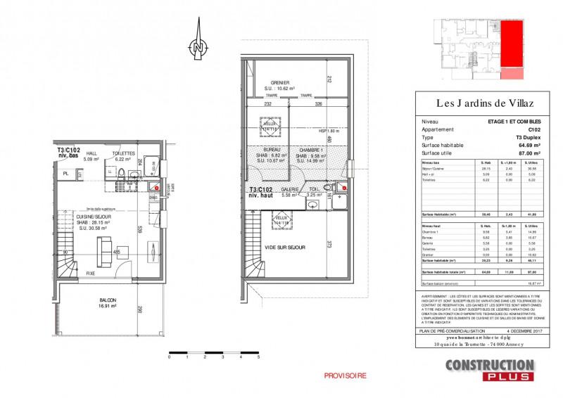 Sale apartment Villaz 290000€ - Picture 2