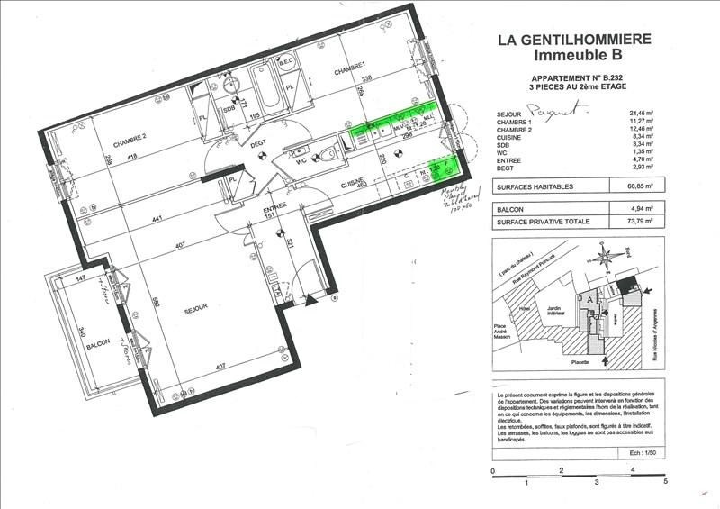 Vente appartement Rambouillet 277000€ - Photo 2