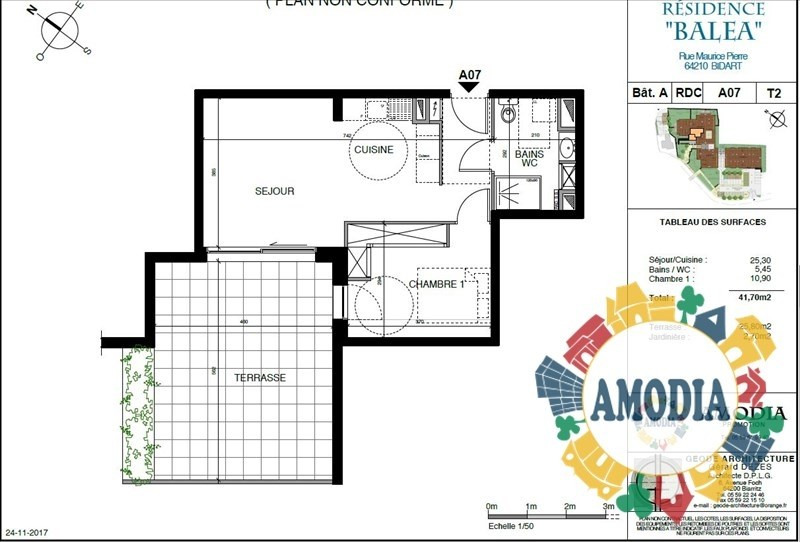 Vente appartement Bidart 237000€ - Photo 2