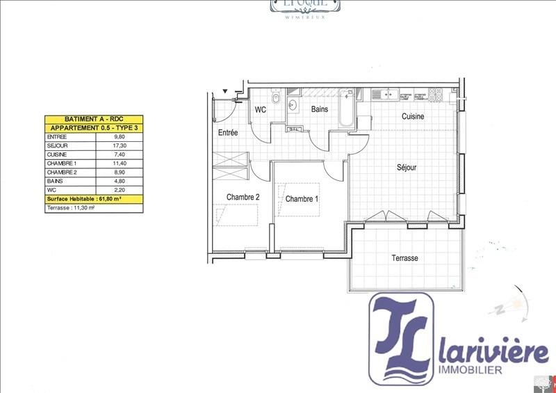 Sale apartment Wimereux 268000€ - Picture 1