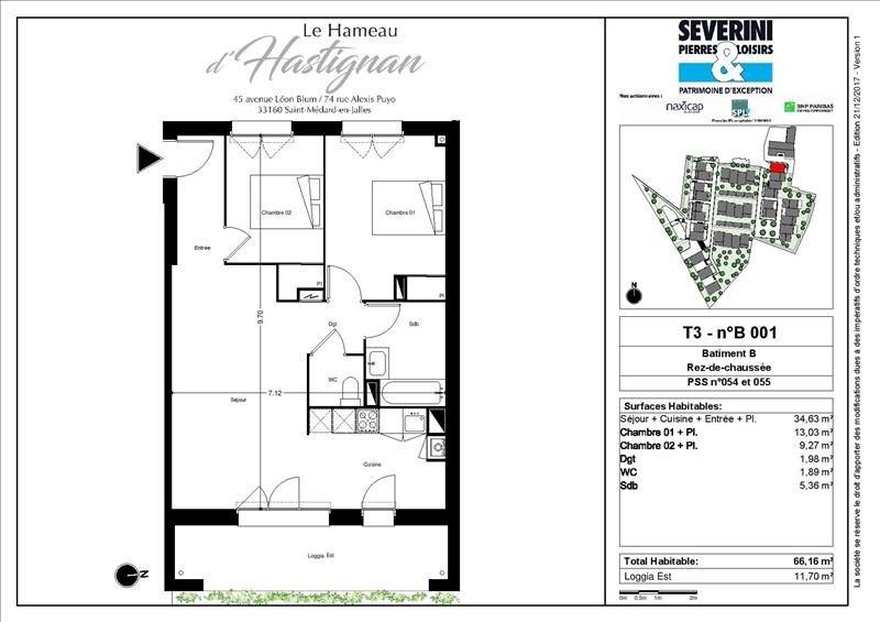Vente appartement St medard en jalles 284200€ - Photo 2