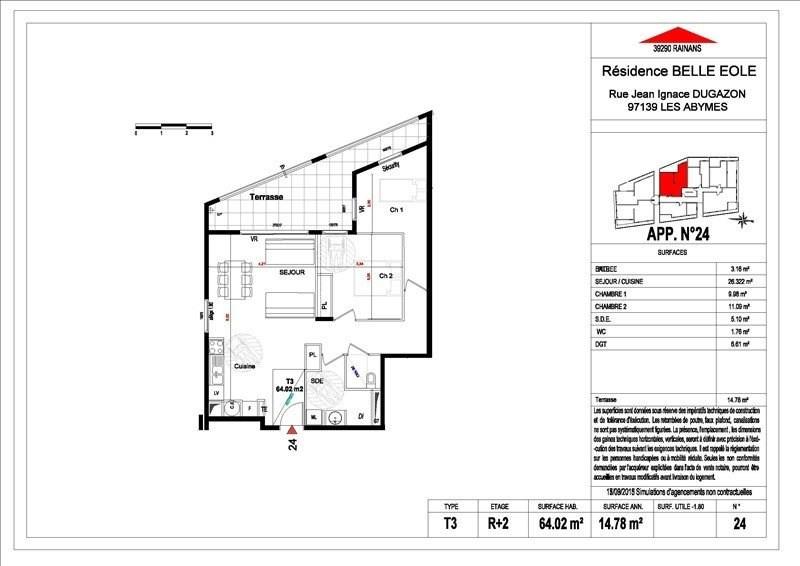 Sale apartment Les abymes 156500€ - Picture 18