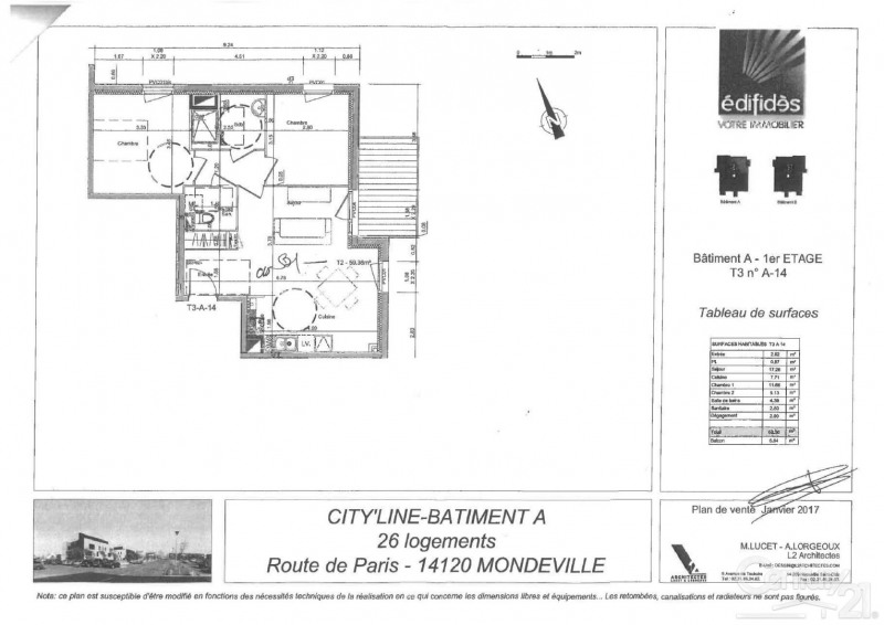 出租 公寓 Mondeville 685€ CC - 照片 4