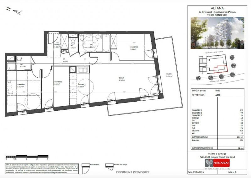 vente appartement 4 pi ce s nanterre 81 m avec 3 chambres 411 788 euros les agents de. Black Bedroom Furniture Sets. Home Design Ideas
