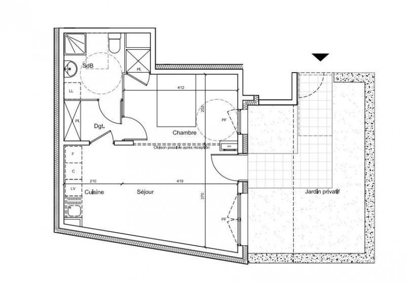 Vente appartement Gentilly 183825€ - Photo 2