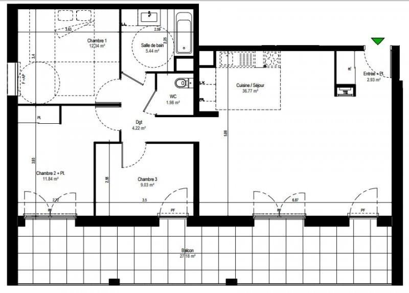 Sale apartment Rillieux la pape 243000€ - Picture 2