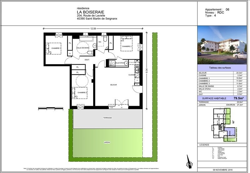 Vente appartement St martin de seignanx 244600€ - Photo 2