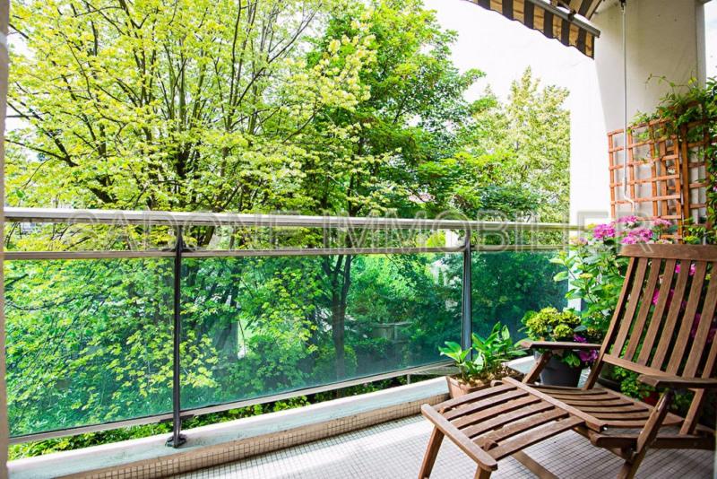 Appartement 84m² Ile de la Jatte-Parc d'Orléans Neuilly-sur-Seine 92200 - Balcon sur jardin, côté séjour
