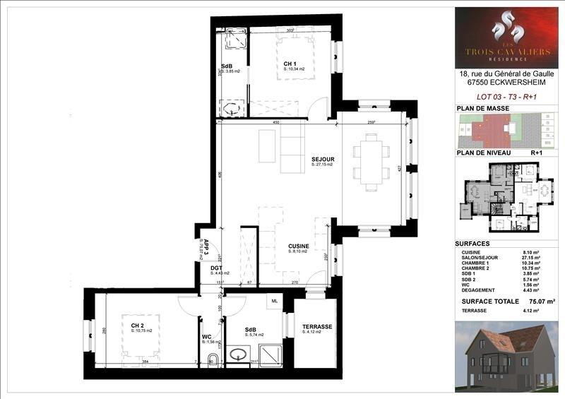 Vente appartement Eckwersheim 219500€ - Photo 2