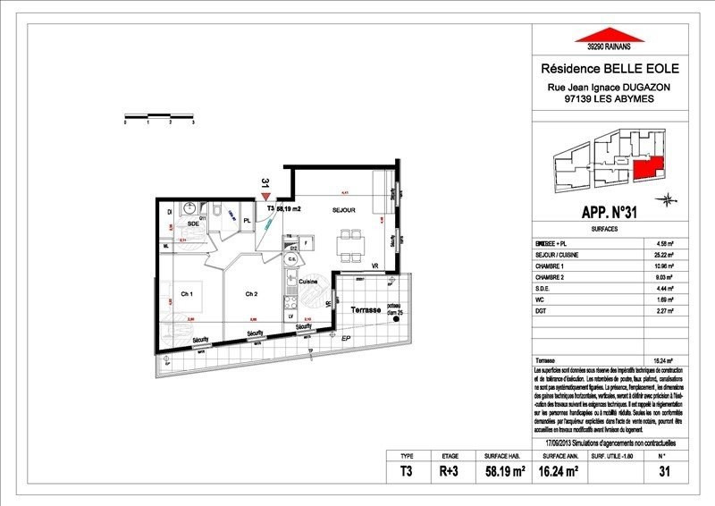 Sale apartment Les abymes 156500€ - Picture 5