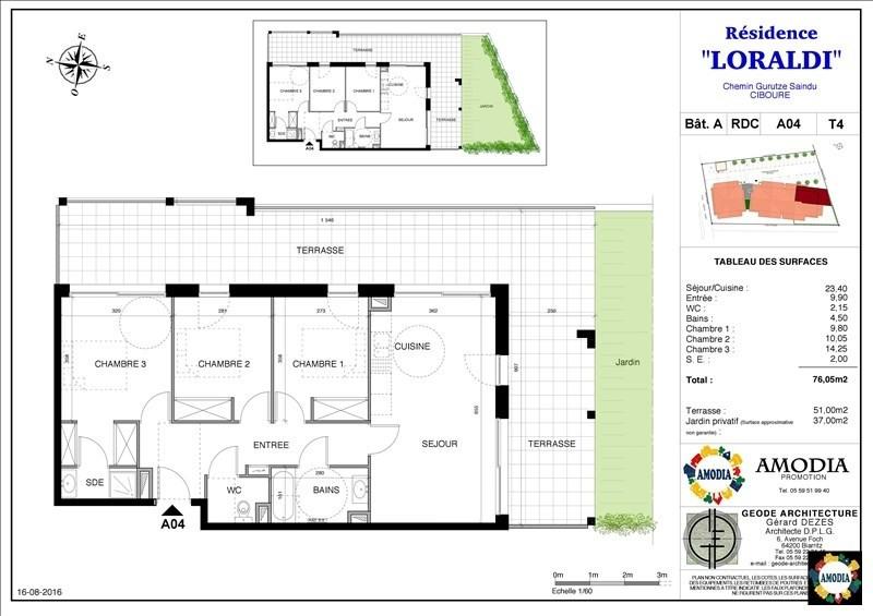 Sale apartment Ciboure 257000€ - Picture 1