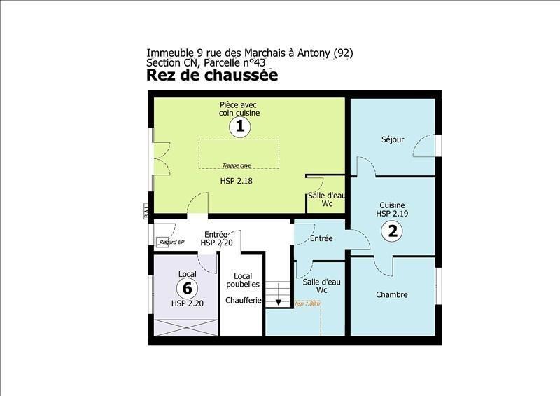 Vente appartement Antony 190000€ - Photo 6